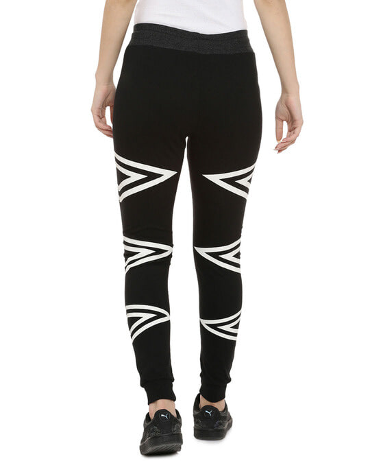 Shop Printed Women White, Black Track Pants-Design