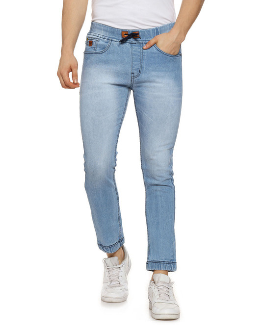 Shop Slim Men  Blue Jeans-Front