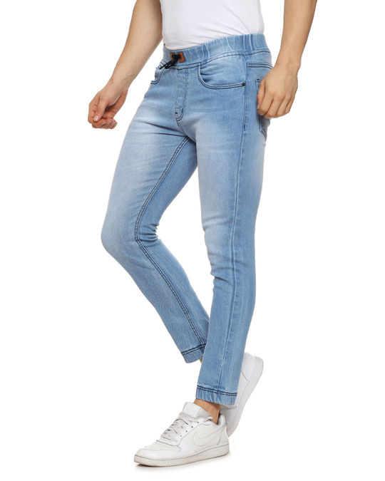 Shop Slim Men  Blue Jeans-Back