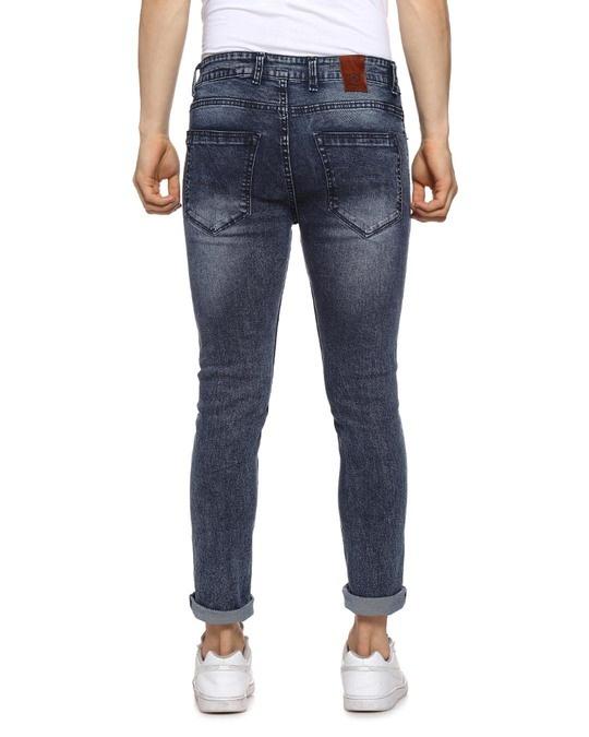 Shop Slim Men  Blue Torn Jeans-Design