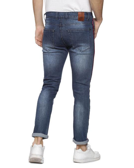 Shop Slim Men  Navy Blue Jeans-Design