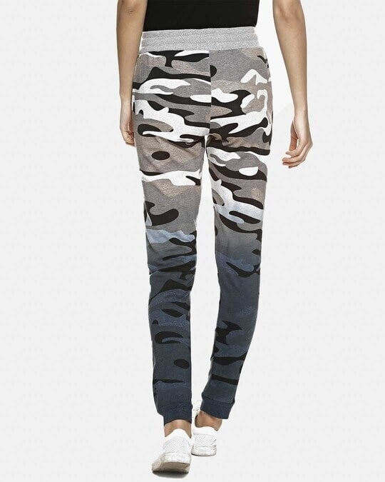 Shop Women Camouflage Stylish Trackpant-Front