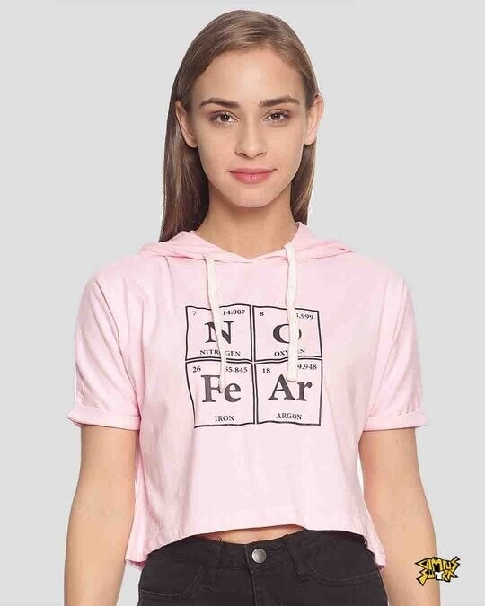 Shop Women Printed Crop Stylish Top-Front