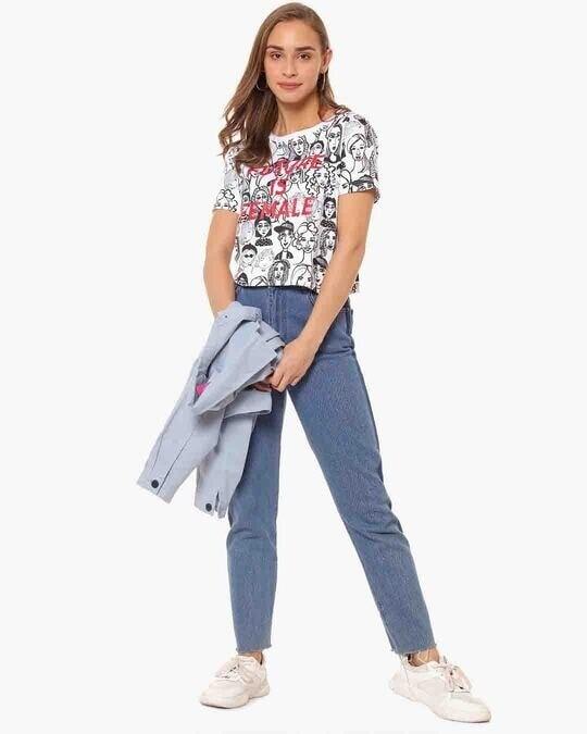 Shop Women Printed Casual Top-Full