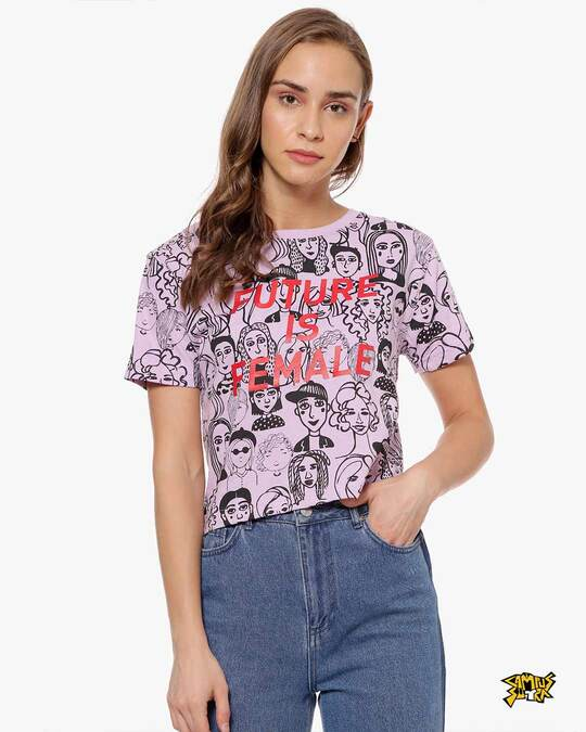 Shop Women Printed Casual Top-Front