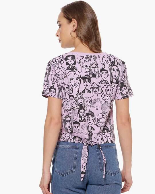 Shop Women Printed Casual Top-Design