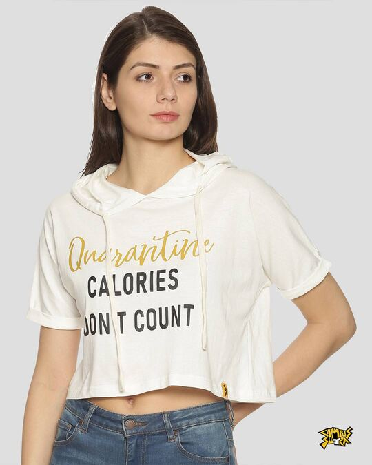 Shop Women Printed Stylish Casual Crop Top-Front