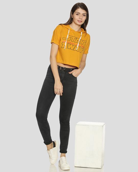 Shop Women Printed Stylish Casual Crop Top-Full