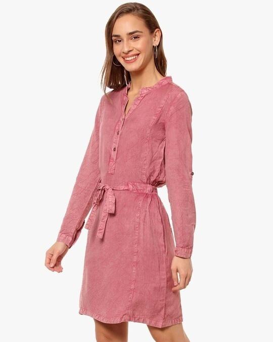 Shop Women Solid Stylish Casual Dress-Back