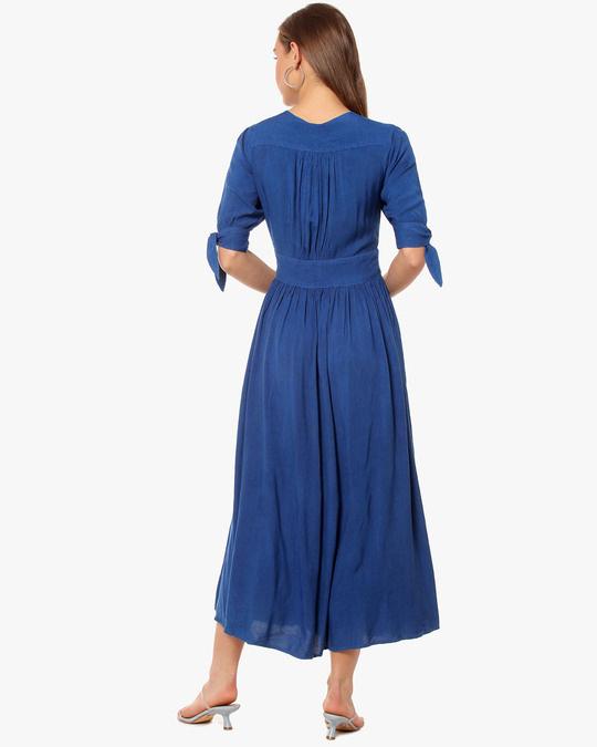 Shop Women Solid Stylish Casual Long Dress Dress-Design
