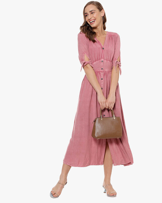 Shop Women Solid Stylish Casual Long Dress Dress-Full