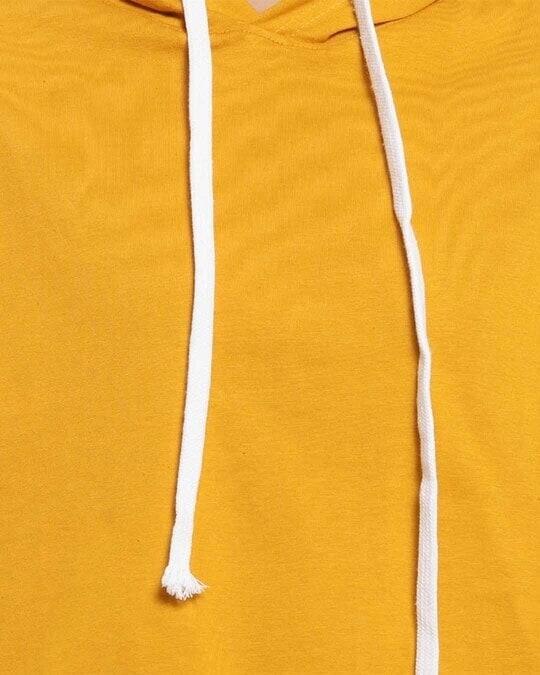 Shop Women Solid Stylish Mustard Casual Crop Top