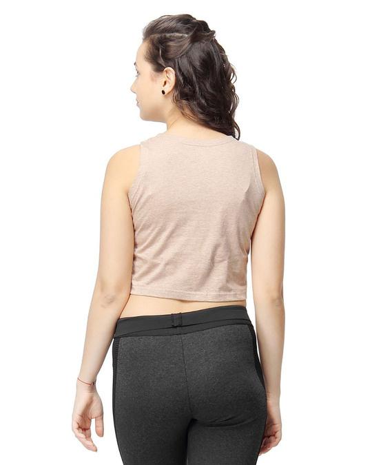 Shop Women Solid Stylish Sleeveless Top-Design
