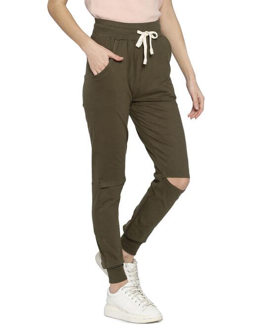 Shop Women Solid Stylish Trackpant-Back