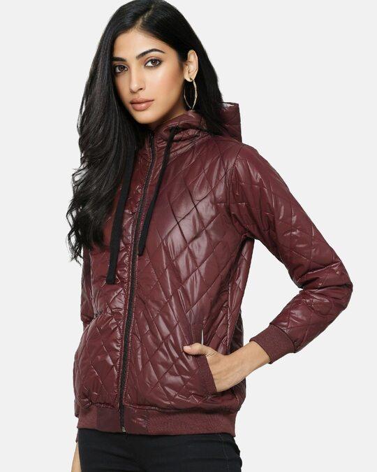 Shop Women Stylish Bomber Jacket-Back