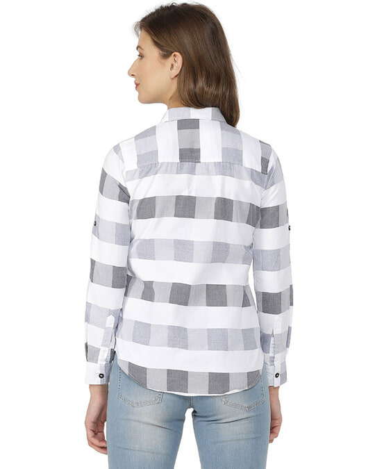 Shop Women Stylish Checkered Casual Shirts-Design