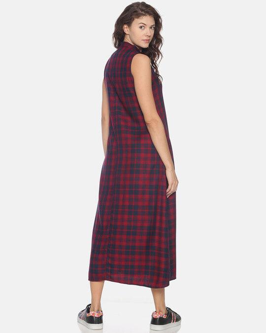 Shop Women Stylish Checks Long Casual Dress-Design