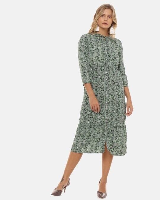 Shop Women Stylish Floral Design Casual Dresses-Full