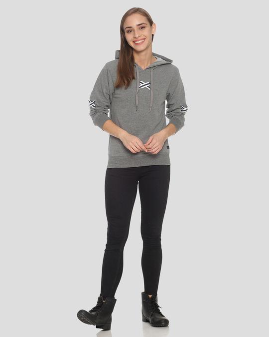 Shop Campus Sutra Women Stylish Hooded Sweatshirt-Full