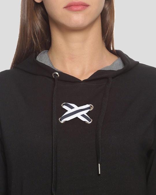 Shop Women Stylish Hooded Sweatshirt