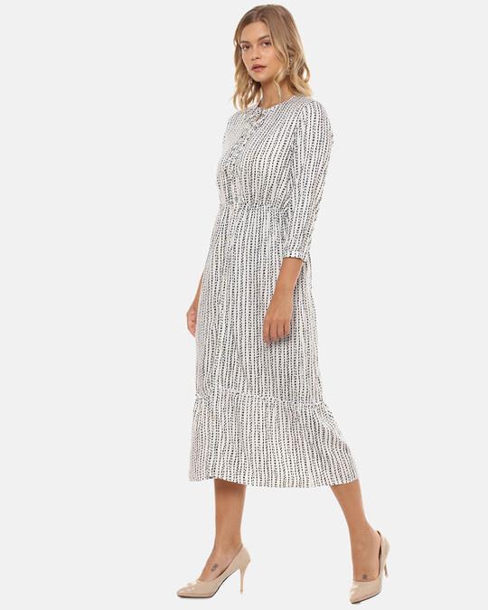 Shop Women Stylish Polka Dots Casual Dresses-Back