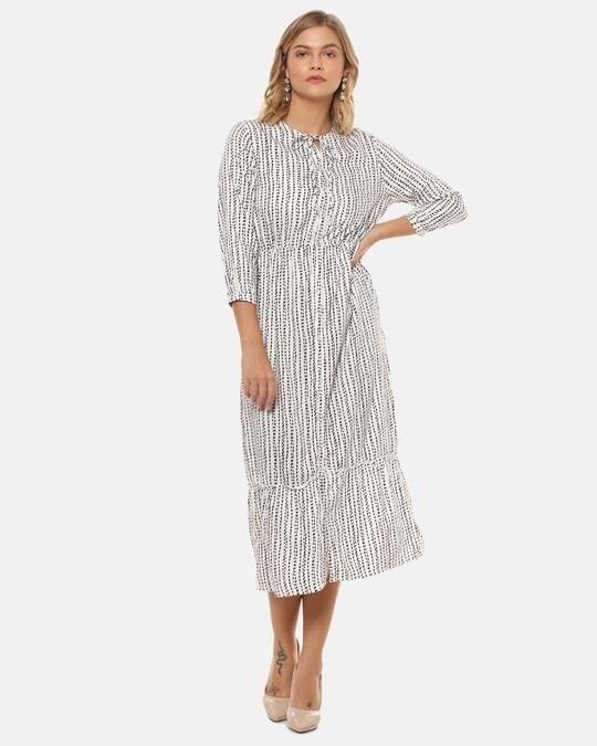 Shop Women Stylish Polka Dots Casual Dresses-Full