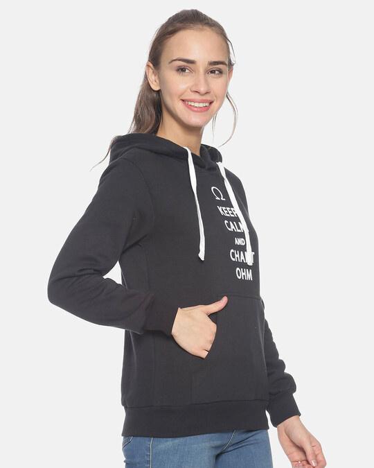 Shop Campus Sutra Women Stylish Printed Hooded Sweatshirt-Back
