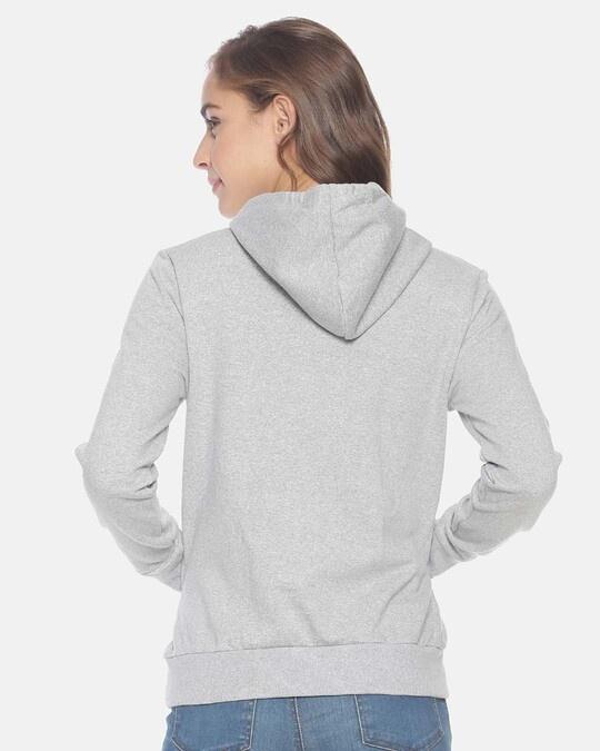 Shop Campus Sutra Women Stylish Printed Hooded Sweatshirt-Full