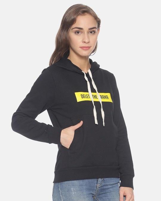 Shop Women Stylish Printed Hooded Sweatshirt-Back