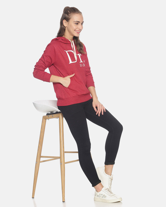 Shop Campus Sutra Women Stylish Printed Hooded Sweatshirt