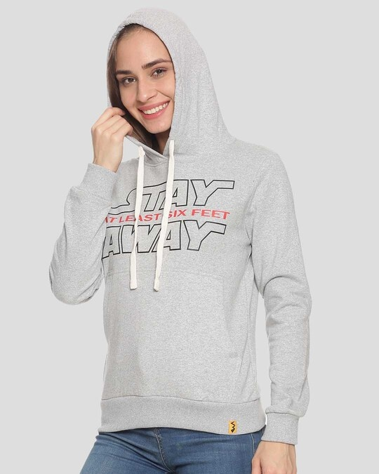 Shop Women Stylish Printed Hooded Sweatshirt-Back