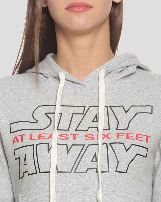 Shop Women Stylish Printed Hooded Sweatshirt