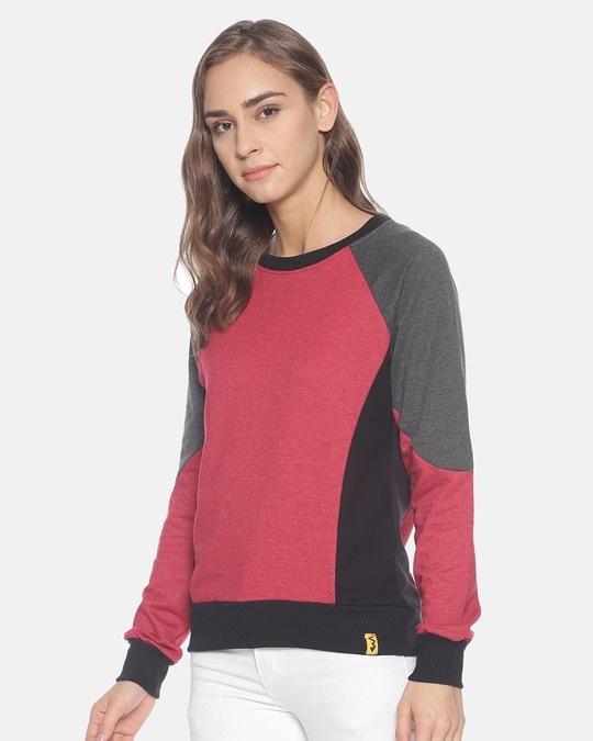 Shop Women Stylish Round Neck Sweatshirt-Back