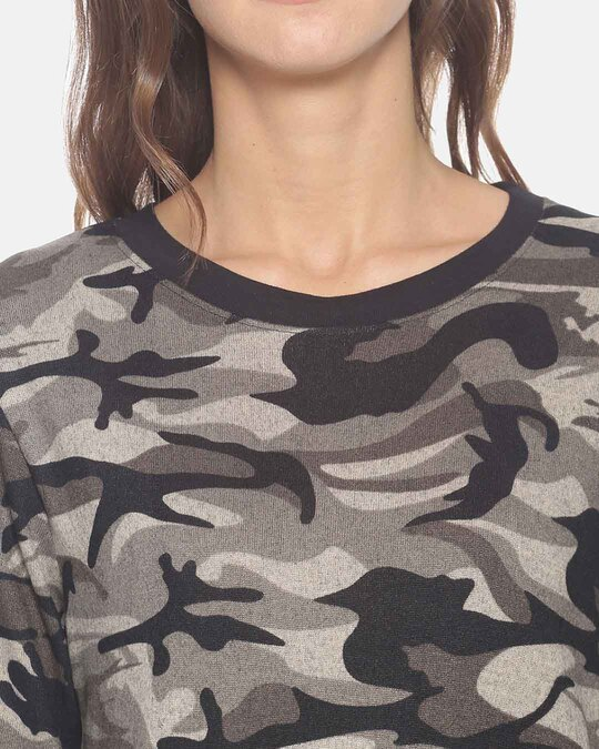 Shop Campus Sutra Women Stylish Round Neck Sweatshirt