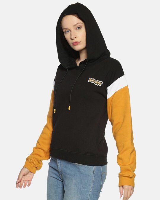 Shop Women Stylish Solid Casual Hooded Sweatshirts-Back