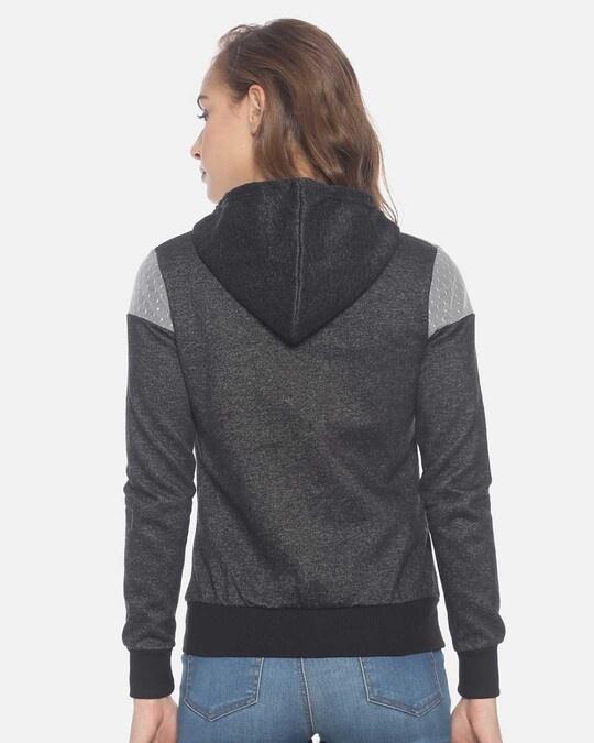 Shop Women Stylish Zipper Hooded Sweatshirt-Full