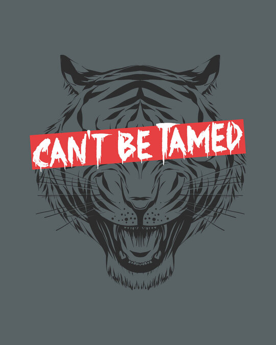 Shop Can't Be Tamed Half Sleeve T-Shirt-Full