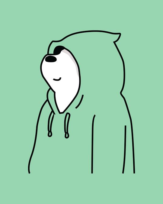 Shop Can't See Me Boyfriend T-Shirts Jade Green -Full
