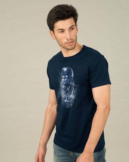 Shop Cap Blue Half Sleeve T-Shirt (AVL)-Design