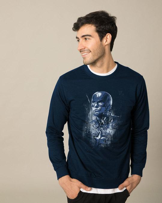 Shop Cap Blue Sweatshirt (AVL)-Front