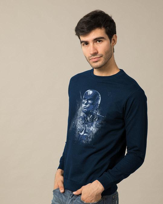 Shop Cap Blue Sweatshirt (AVL)-Back