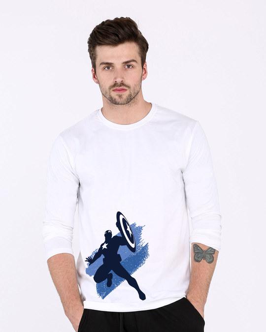 Shop Captain America Blues Full Sleeve T-Shirt (AVL)-Front