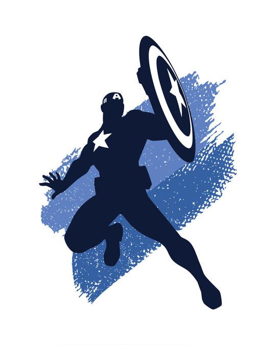 Shop Captain America Blues Full Sleeve T-Shirt (AVL)-Full