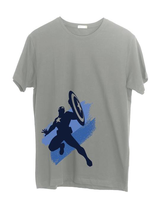 Shop Captain America Blues Half Sleeve T-Shirt (AVL)-Front