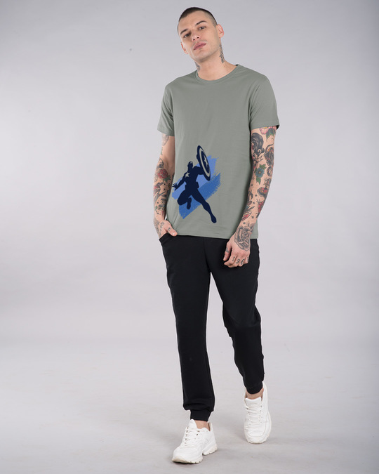 Shop Captain America Blues Half Sleeve T-Shirt (AVL)-Full