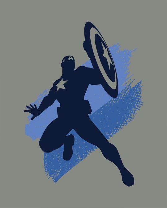 Shop Captain America Blues Half Sleeve T-Shirt (AVL)
