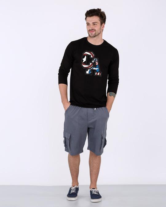 Shop Captain America Clip Full Sleeve T-Shirt (AVL)-Design