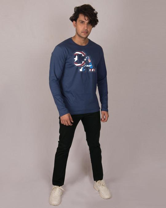 Shop Captain America Clip Full Sleeve T-Shirt (AVL)-Full