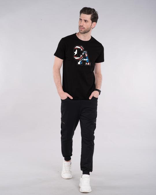 Shop Captain America Clip Half Sleeve T-Shirt (AVL)-Design