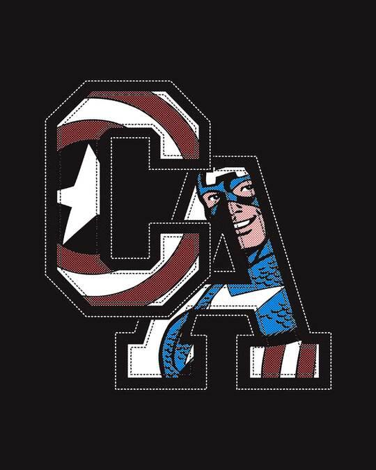 Shop Captain America Clip Half Sleeve T-Shirt (AVL)-Full